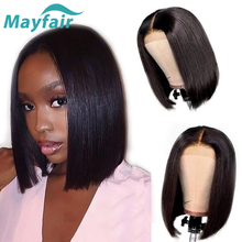 Mayfair Straight Human Hair Wigs Short Bob Lace Front Wigs For Black Women Brazilian Non-Remy Hair Extensions Swiss Lace Wigs