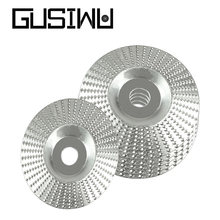 GUSIWU 1pc 100mm Woodworking Abrasive Disc Grinding Dics Flat Arc Shape Tungsten carbide Rotary Disc Sanding Wood Carving Tool