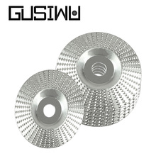 GUSIWU 1pcs 100mm Woodworking Abrasive Disc Grinding Dics Flat and Arc Carbon Steel Rotary Disc Sanding Wood Carving Tool