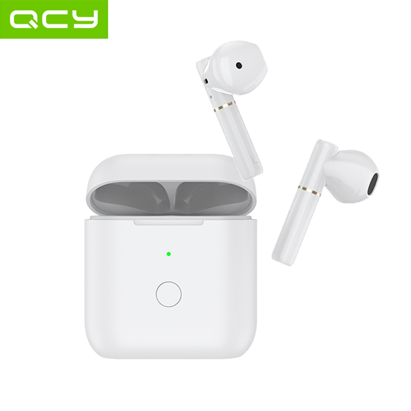 QCY T8 Bluetooth Headsets Wireless Binaural Semi-in-ear Sports Running Car Call with Long Battery Llife