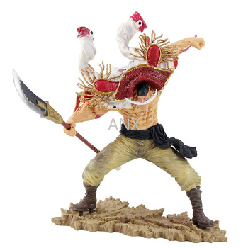 24CM Anime One Piece  Figure Edward Newgate PVC Action  Figure Collectible Whitebeard Figure Doll Model Toys Gifts For Children 7 8 neca predator ultimate 30th anniversary jungle hunter pvc action figure jungle hunter unmasked collectible model doll toys