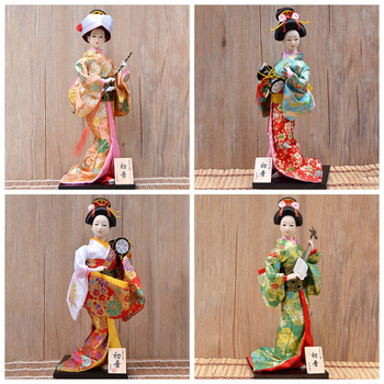 30cm Japanese Kimonos Dolls Traditional Japanese Geisha Figurines Statues Ornaments Home Restaurant Desktop Decoration Gifts 1