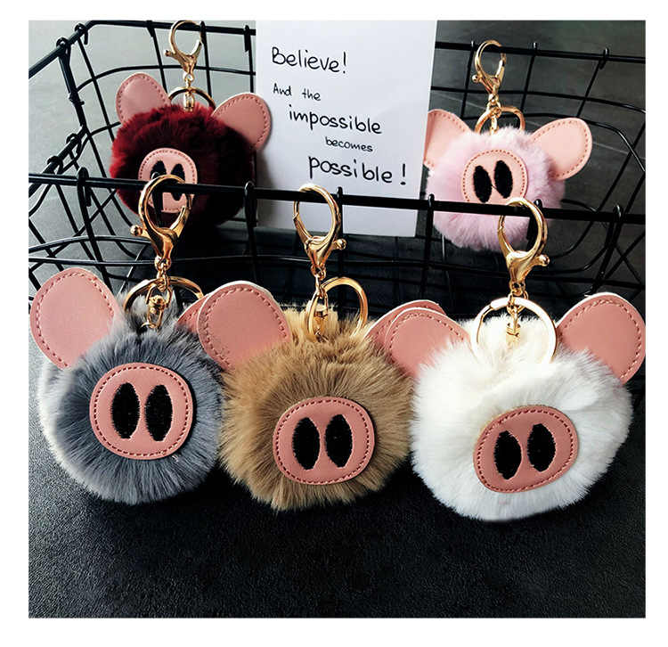 Unisex Piggy Keychain Pig Key Ring Ornaments Birthday Gifts Portable Pendant