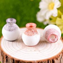 Żywica miniaturowa z małym otworem wazon DLY akcesoria rzemieślnicze akcesoria do dekoracji ogrodu dekoracja wnętrz ozdoba wazon o drobnym kroju tanie tanio Nowoczesne Blat wazon 0615