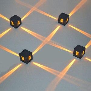 Image 5 - Luminária led de parede 4 pçs/lote, para ponto cruz, estrela, lâmpada quadrada, à prova d água, iluminação noturna, engenharia BL 27S