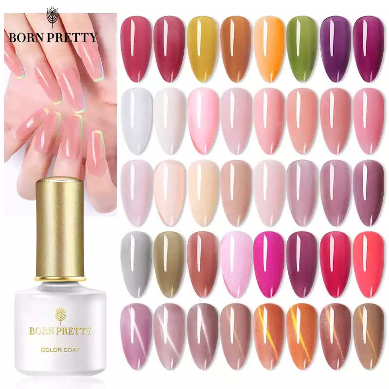 BORN PRETTY Opal Желе Гель-лак для ногтей 6 мл полупрозрачный белый розовый Кристальный лак отмачиваемый УФ-гель для дизайна ногтей лак