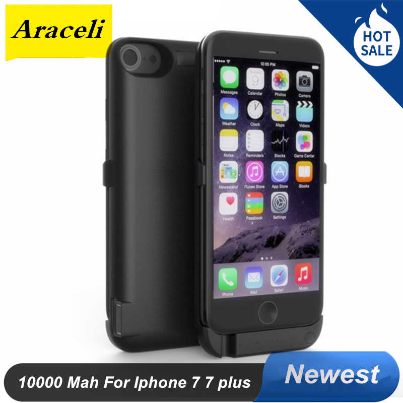 For Apple Iphone 7 iphone 7 plus Battery Case 10000mAh Power Bank Charger Cover Smart External For Iphone 7 7 plus Power Case