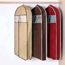 Casa tridimensional casaco de pele roupas capa de poeira longo downjacket camurça poeira saco de armazenamento de roupas capas de roupas hangingg