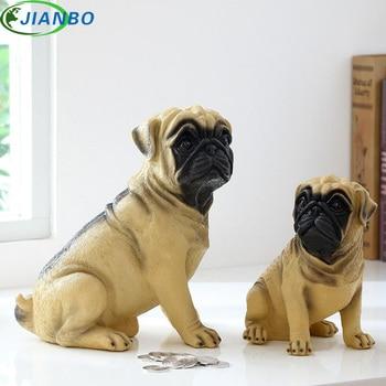 Exquisite Michief Pug Dog Save Coin Money Box Life Cute Piggy Bank Desk Ornament High Quality Resin Decor Present For Friend