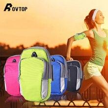 Спортивная нарукавная повязка для тренировки, сумка для бега, чехол, универсальный, для смартфона, для улицы, водонепроницаемый, нарукавник, чехол с отверстием для наушников
