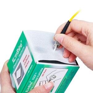 Image 2 - Fiber optik temizleme aracı optik konektör temizleyici temiz mendil tozsuz kağıt