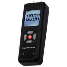 Manometer Digital Portable Handheld Air Vacuum Gas Pressure Gauge Meter with Backlight 11 Units +/- 13.78KPa +/- 2PSI