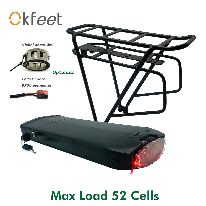 Okfeet Ebike Case Battery Battery Lithium Controller Led Lamp Battery Light Electric Bike Bicycle E Bike Battery Storage Box