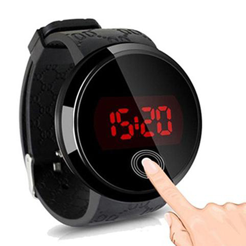 Fashion Touch Screen Watches Men Led Digital Watches Men Sports Watches Silicone Band Day Date Electronic Watches Reloj Hombre