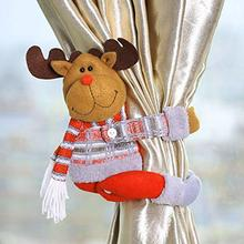 Cute Curtain Tieback Buckle Santa Claus Elk Snowman Clips Holders Home Decorations Christmas 3 Types