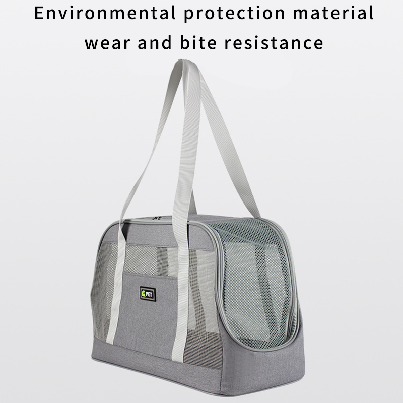 Portable Dog Carrier Bag Breathable Mesh Dog Backpack Large Capacity Cat Carrying Bag Outgoing Travel Hiking For Cat Handbag