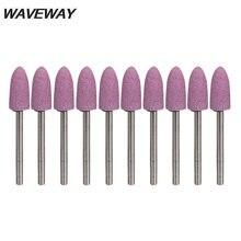 Waveway 10 шт/компл 3*8 мм абразивный монтируемый камень для
