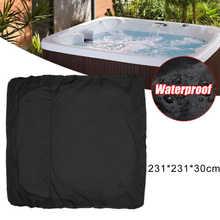1 X cubierta de la tina caliente Spa polvo tapa impermeable Jacuzzi Hotsprin 218*218*30cm 244*244*30cm muebles anti-UV