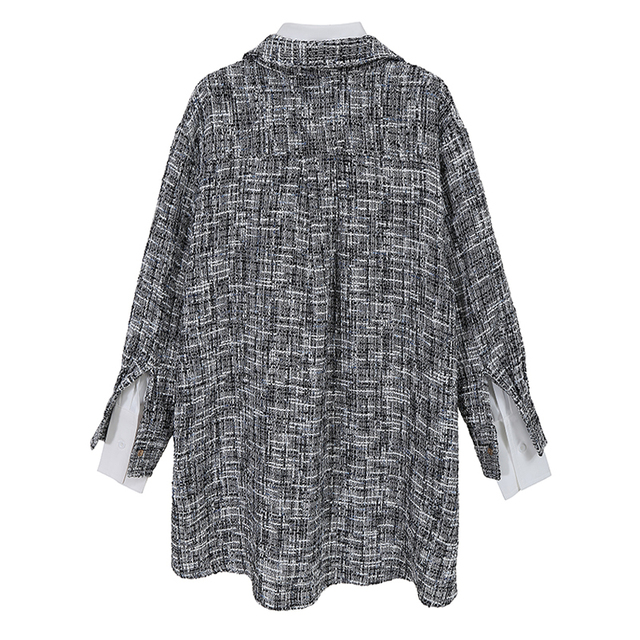 VeryYu Korean Style Two Piece Gray Jacket Fashion  VeryYu the Best Online Store for Women Beauty and Wellness Products