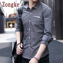 Zongke 2020 New Spring Casual Long Sleeve Shirt