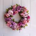 Свадебные украшения венок; Большие размеры 35-40 см цветы венок из искусственных цветов, «сделай сам» для дома Дверь Декор венок гирлянда вече...
