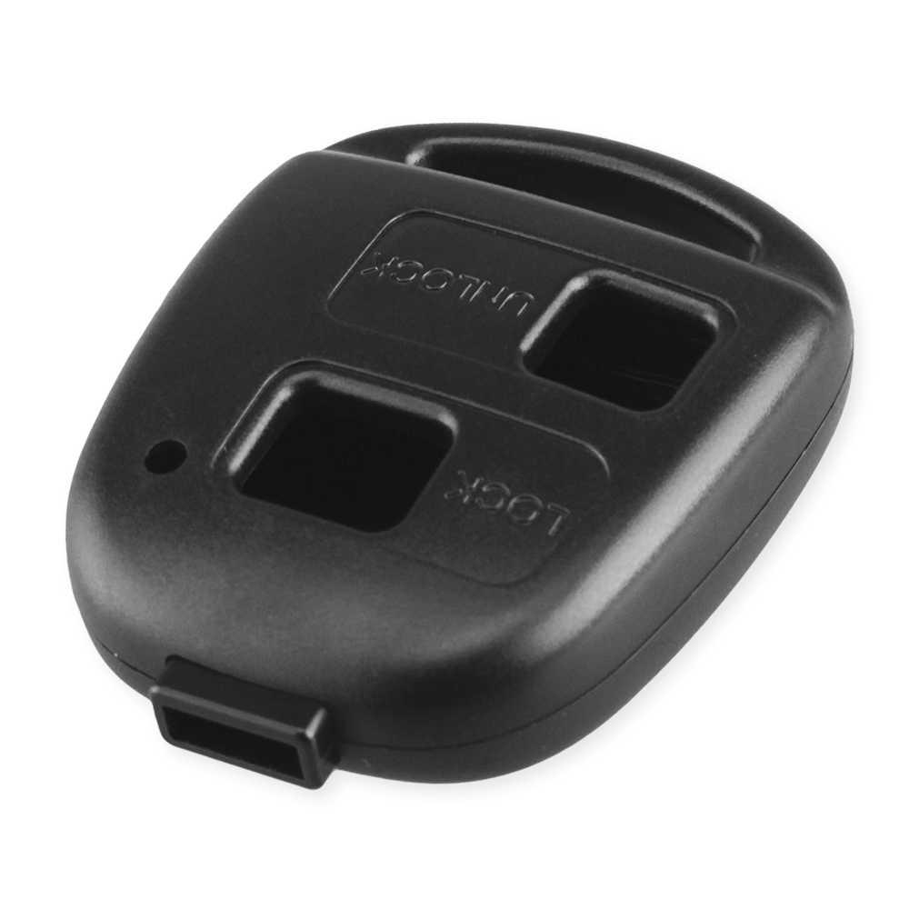 Dandkey Remote 2/3 Tombol Kunci Remote Shell Tidak Blade Case untuk Lexus RX300 untuk Toyota RAV4 Yaris Prado Corolla Tanah cruiser Tarago