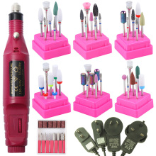 1 Set Electric Nail Drill Machine Manicure Pedicure Strong Nail Art Professional Nail File Polishing Equipment Tools Bands Kit цена 2017