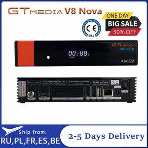 Image 1 - DVB S2 Gtmedia V8X לווין טלוויזיה מפענח מעודכן Gtmedia V8 נובה V9 סופר מלא HD 1080P H.265 מובנה wifi אין APP כלול
