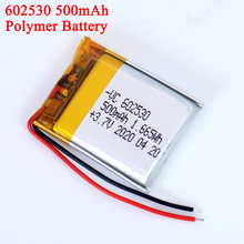 3.7v Lithium Ion Polymer 602530 Battery 500mAh Lithium Battery For MP4 MP5 GPS PSP Smart Watch Driving Recorder