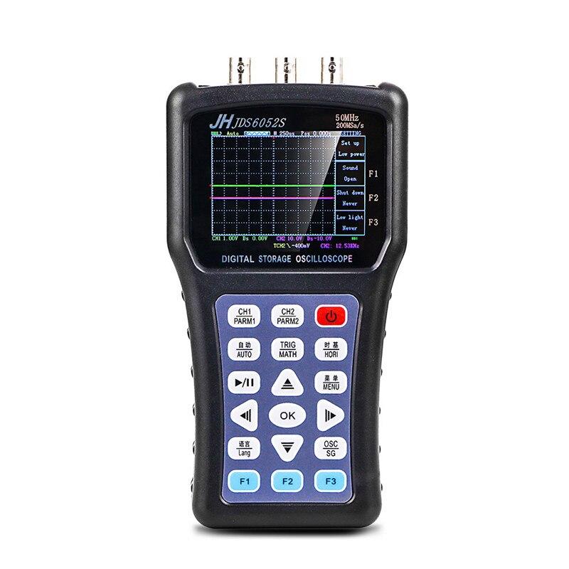 7764.79руб. 30% СКИДКА|JDS6052S портативный осциллограф цифровой Storagesignal функция генератора 20 МГц осциллограф AC/DC Входная муфта|Осциллографы| |  - AliExpress