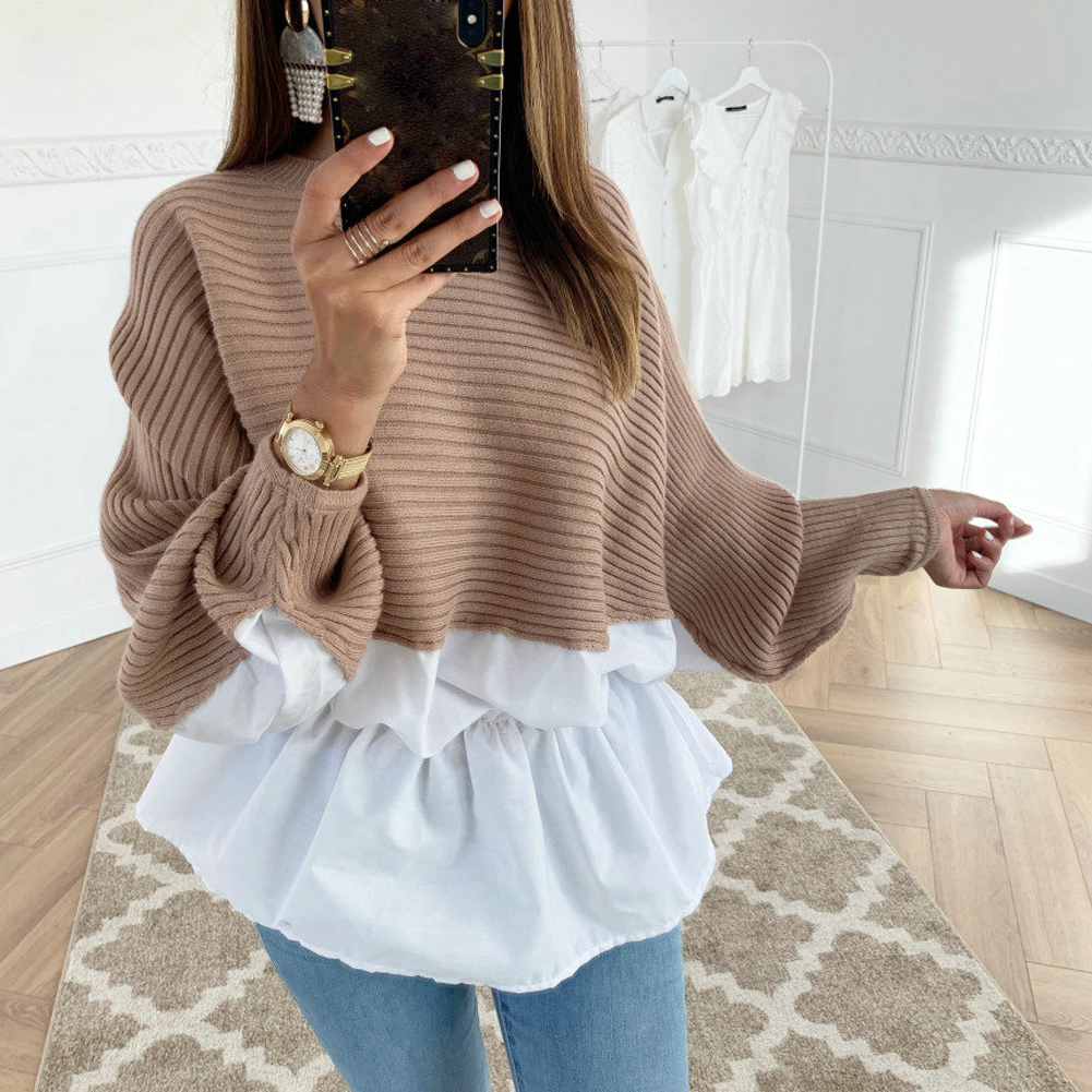 High Quality Fashion Casual Women's Clothing Female Solid Color O-Neck Long Sleeved Knitted Sweater Women Soft Pullovers New