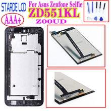 STARDE 5,5 ''LCD für Asus Zenfone Selfie ZD551KL LCD Display Touchscreen Digitizer Montage mit Rahmen ZOOUD LCD mit Freies werkzeuge