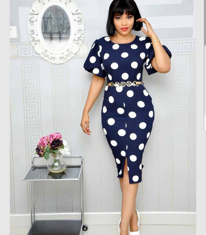 Elegant African Design Print Polka Dot Dashiki Dress Abaya Hijab Muslim Bazin Maxi Robe Gowns Broder Riche Sexy Lady Party
