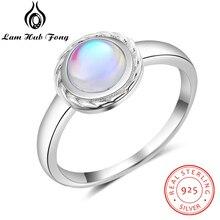 Anillo de Plata de Ley 925 para mujer, anillo de piedra ópalo blanco de doble capa, anillo abierto, anillo de Plata de Ley 925 para mujer