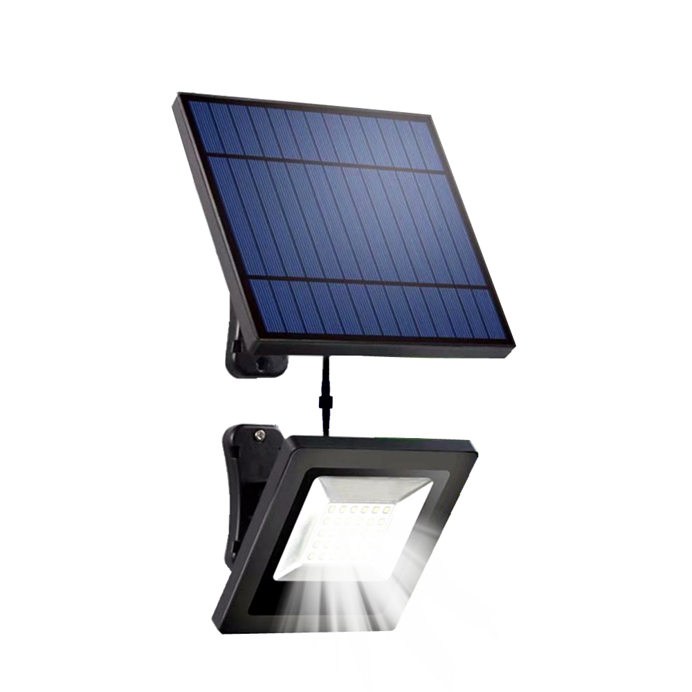 Garden Solar Flood Light 30LED Solar Panel With 5M Cable Floodlight Wall Lamp With Solar Battery For luz Solar Lighting