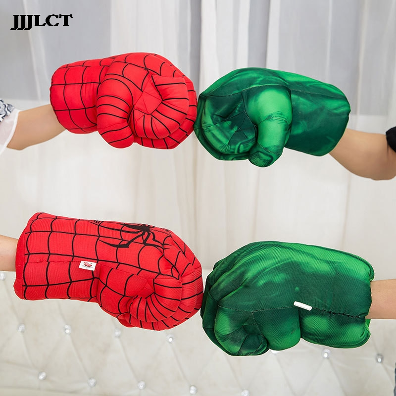 Performance Props Toy Role Playing Props 13 Inch 1 Pair Hulk Smash Hand Iron Man Plush Gloves