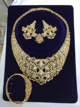 hot design gold jewelry sets bridal set african big  plating women necklace