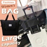 Große Kapazität Klapp Reisetasche Wasserdichte Unisex Große Kapazität Tasche Frauen Kapazität Hand Gepäck Business Reise Reisen Taschen