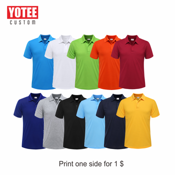 YOTEE 2020 summer cheap casual short-sleeved polo suit personal company group LOGO custom POLO shirt cotton men and women