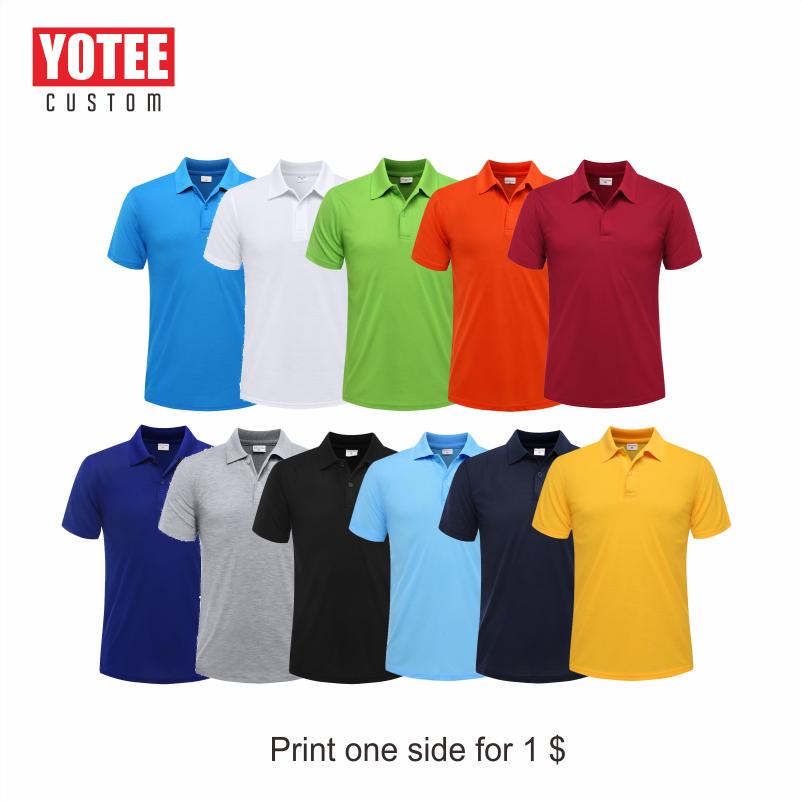 Yotee 2020 夏格安カジュアル半袖ポロスーツ個人会社グループロゴカスタムポロシャツ綿男性と女性カスタム