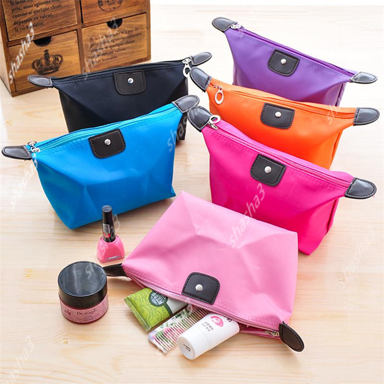 1 Pc Solid Cosmetic Bag Korean Style Women Makeup Bag Pouch Toiletry Bag Waterproof Makeup Organizer Case