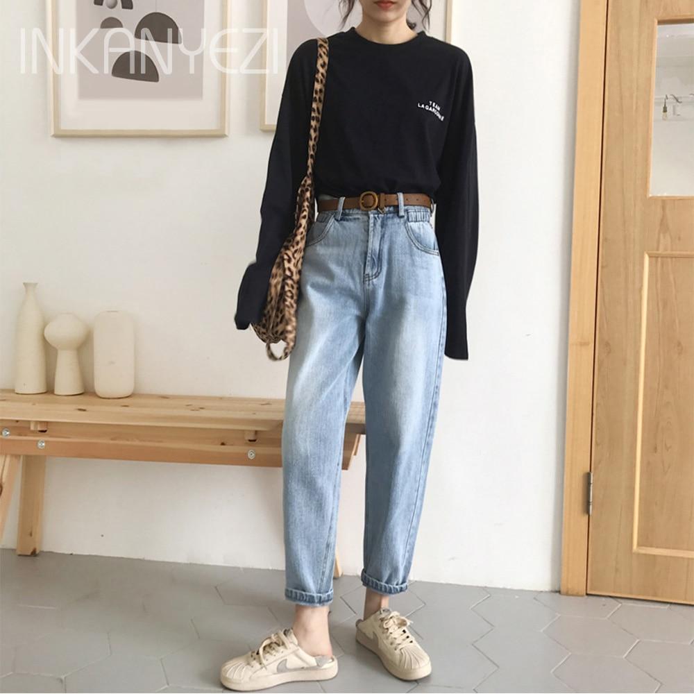 Vintage Chic Boyfriends Harem Jeans Women Size Elastic High Waist Cool Denim Pant Trousers Chic Mom Loose Jean Pants Retro -85