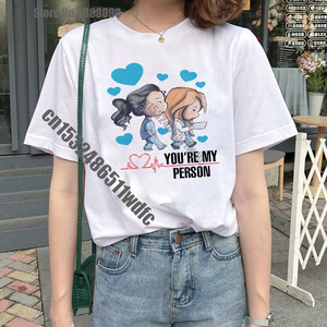 Camiseta de mujer con dibujo de Greys Anatomy You are My Person, Camiseta estilo coreano Harajuku Ullzang de los años 90