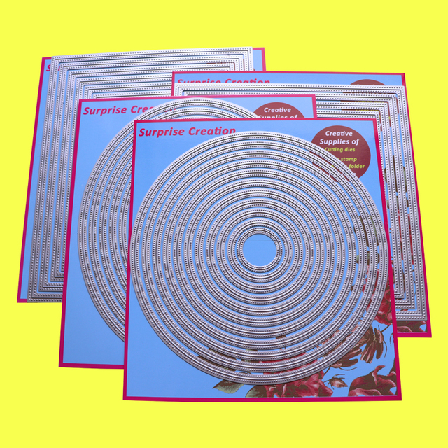 4 Set Grote Stansmessen Piercing Rechthoek Vierkante Cirkel Ovale Kaartmaken Plakboek Diy Craft Stencil