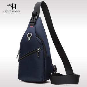 Image 1 - 2019 neue Männliche Brust Tasche Mode Freizeit Wasserdichte Mann Oxford Tuch Korea Stil Messenger Schulter Tasche Für Teenager Tasche