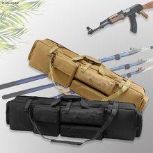 M249 nylonowy karabin futerał do przenoszenia taktyczne strzelanie wojskowe karabin Airsoft kabura duża torba na broń torba na ramię