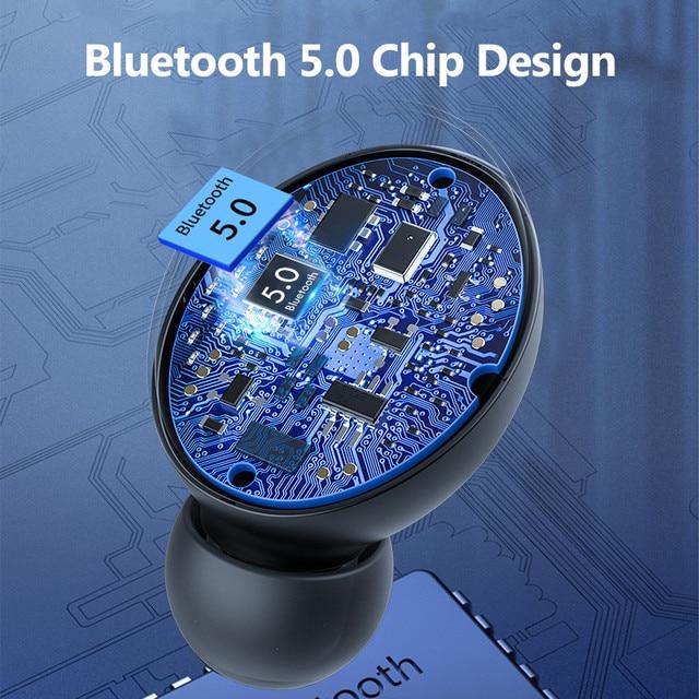 H & A Bluetooth V5.0 słuchawki bezprzewodowe słuchawki z mikrofonem sportowe wodoodporne słuchawki 2200mAh etui z funkcją ładowania dla iOS Android