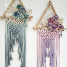 Macrame Large Wall Hanging-Macrame Wedding Hanging Background-Ombre Wall Mural-Dipdyed Thread Hanging Wall Hanging-Macrame