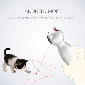 Image 2 - Carrywon القط الحيوانات الأليفة LED الليزر مضحك لعبة الذكية التلقائي القط التمرينات مسلية لعبة متعددة زاوية قابل للتعديل USB تهمة