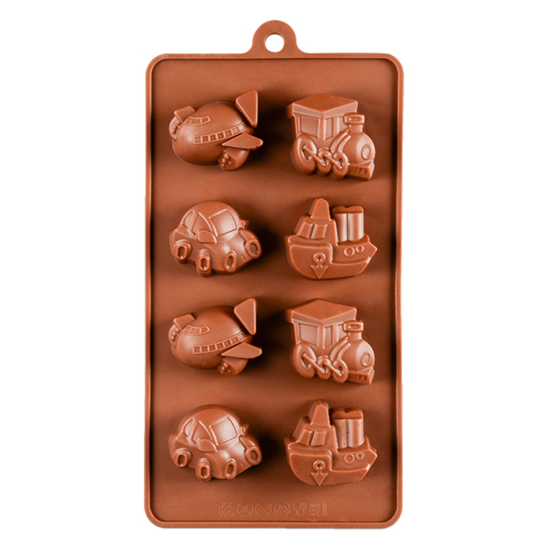New Train Set silicone mold Chocolate Cake Candy Cupcake Baking Tools Supplies
